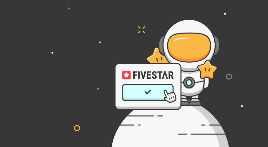 Fivestar Marketing Logo mit Astronaut