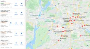 Aussschnitt Google Maps Darstellung