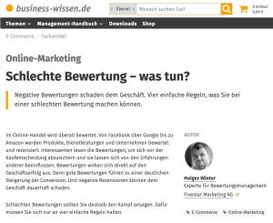 Fachartikel von Holger Winter auf business-wissen.de