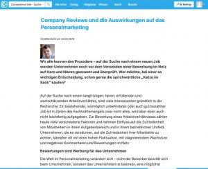 Fachartikel von Holger Winter auf competence-site.de